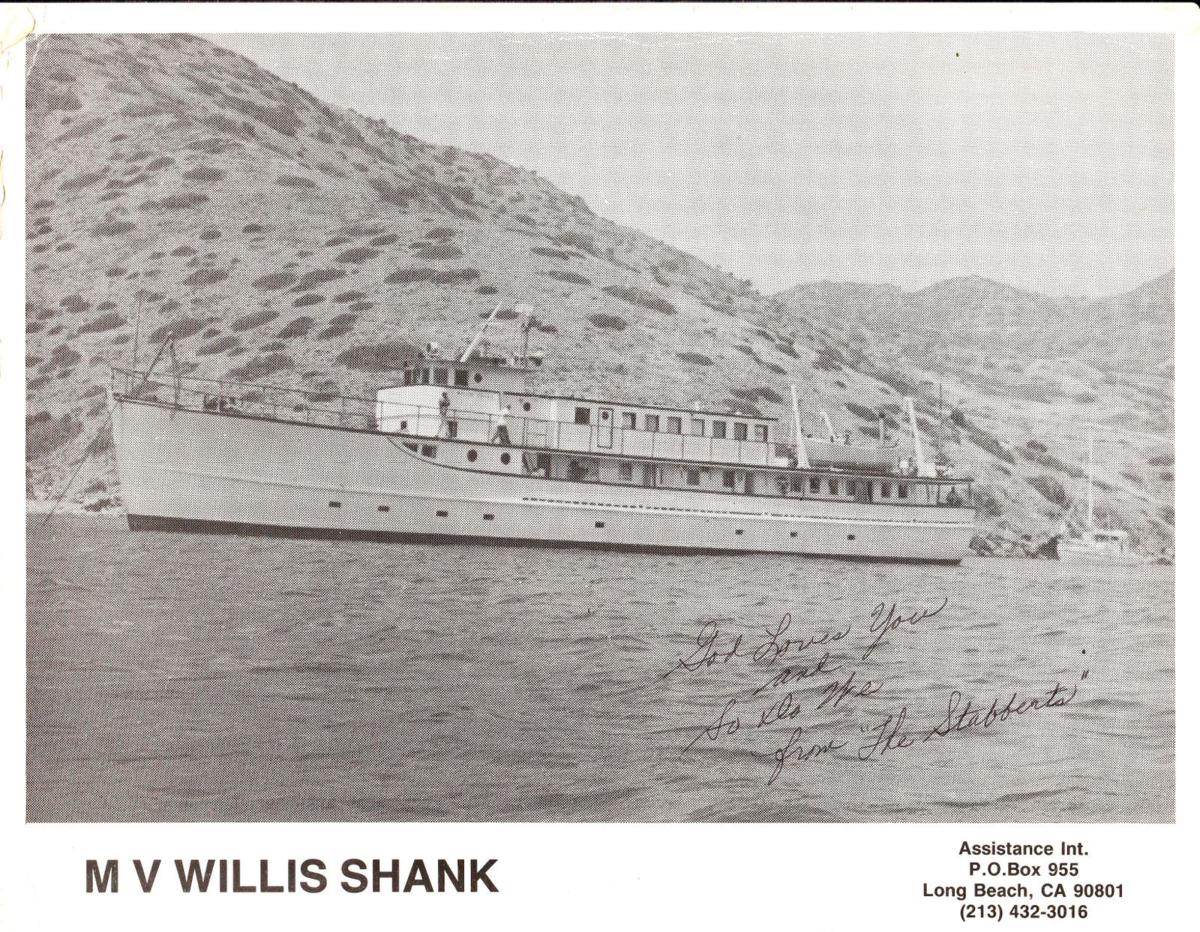 MV Willis Shank the boat Don grew up on